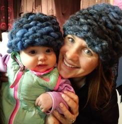 Hand Knit Messy Bun Hats