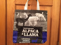 Reusable Tote Bag-black&white alpacas