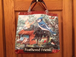 Reusable Tote Bag-beautiful bluejay!