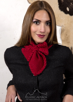 Photo of Alpaca Bow Tie Scarf