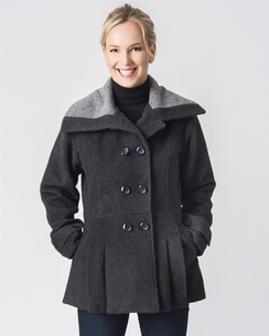 Photo of Fancy Peacoat Alpaca Dress Coat
