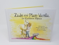 Zadie & Plain Vanilla the Rainbow Alpaca