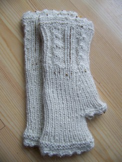 Photo of Beaded fingerless gloves
