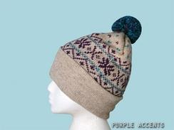 Snowflake PomPom Hat