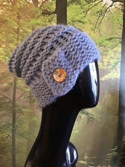 Photo of GGF Handknit-Blue Cloche/Flapper Hat