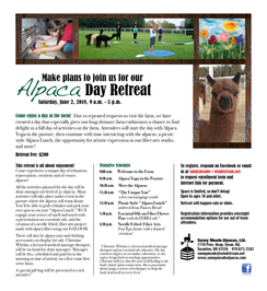 Photo of Alpaca Day Retreat Registration