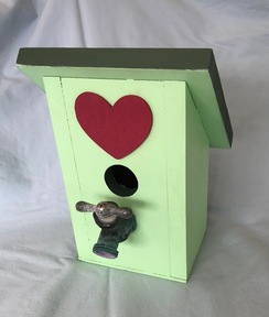 Birdhouse - Light Green and Forest Green
