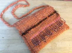 Handwoven Alpaca Handbag Peachy Orange