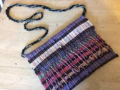 Handwoven Alpaca Handbag Black Multi