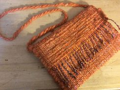 Hand Woven Alpaca Handbag Peachy Orange