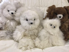 Photo of Medium stuffed alpaca fleece bear