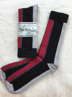 Black striped dress socks