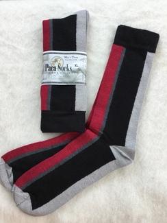 Black striped dress socks