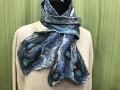 Watercolor Series Wet Felt Scarf by Cora