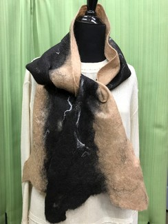 Photo of Alpaca & Silk Wet Felt Scarf by Cora