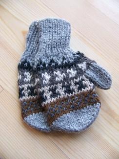 Kids alpaca mittens