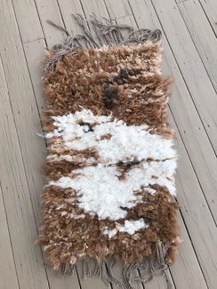 Photo of Spring Clouds Woven Alpaca Lock Rug