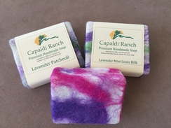 Photo of Felted, handmade olive oil soaps