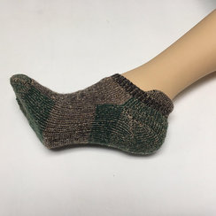 Photo of UNISEX Alpaca Sport Socks - Fawn/Green S