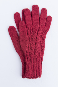 Photo of Classic Alpaca Cable Gloves