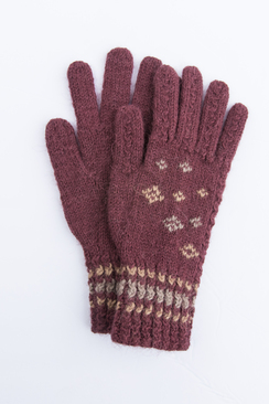 Photo of Alpaca Embroidered Bohemian Gloves