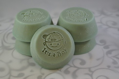 "Photo of Lavender Baby Soap ""It's a Boy"""