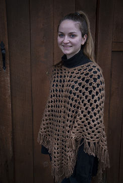 Photo of Alpaca & silk poncho