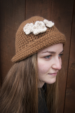 crocheted alpaca clouche hat