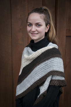 Striped Alpaca Shawl