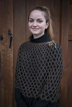 Alpaca Open weave shawl