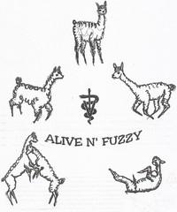 ALIVE N' FUZZY ALPACA FARM - Logo