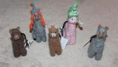 Felted Alpaca Ornaments