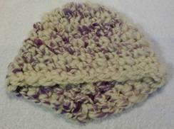 """""""Spring Crocus"""" Newborn Hat"""