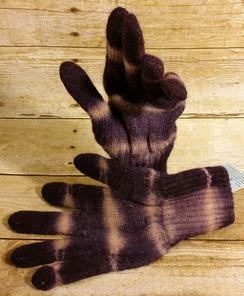 Alpaca Tie Dye Knit Gloves