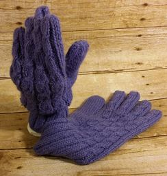 SOLD OUT- Cabled Knit Alpaca Gloves