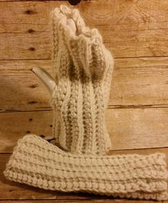 Cloudy Fingerless Mitts