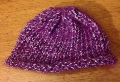 OOAK Art Yarn Baby Hat