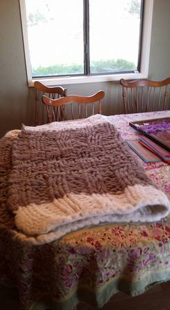 Photo of White-Bordered Brown Blanket