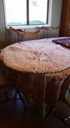 Photo of Round White Rug