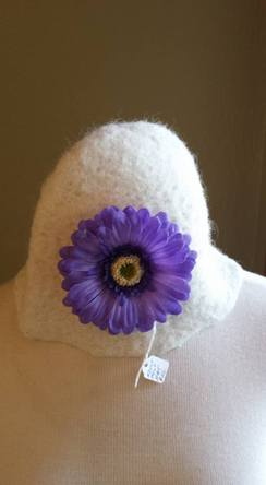 Felted Floral Hat
