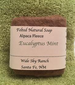 Eucalyptus Mint Handmade Felted Soap