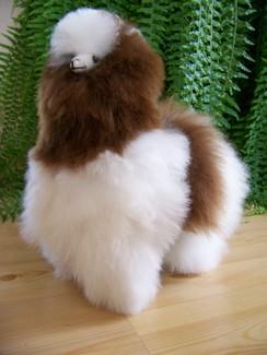 "12"" standing stuffed alpaca"