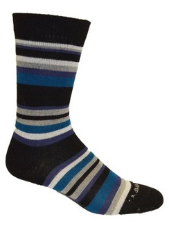 Photo of Alpaca Striped Turquois Dress Socks