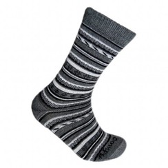 Grey Geometric Alpaca Socks