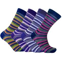 Multi-Color Striped Alpaca Dress Socks