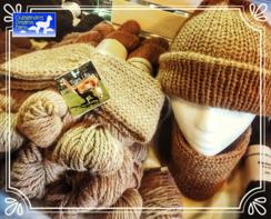 Alpaca fiber yarn, hats and scarves