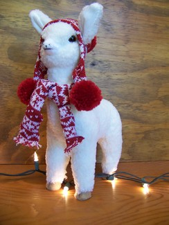 "Photo of 12"" stuffed alpaca toy"