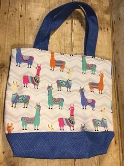 SOLD- Llama Llama Tote/Project Bag