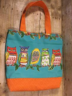 SOLD- OWLS! Tote or Project Bag