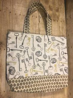 SOLD- Lock and Key Tote or Project Bag